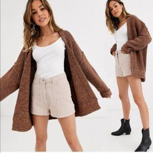 NWT Free People Brown High Hopes Knit Cardigan